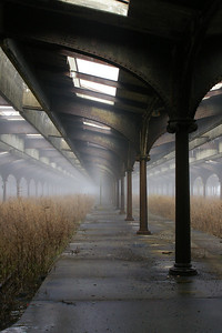 This is the old train yard at Liberty Park where you catch the ferry to Ellis Island and the Statue of Liberty.  It was very foggy this morning and we were delayed for a few hours until the fog cleared.